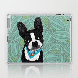 Tropical Boston Terrier Boy Laptop & iPad Skin