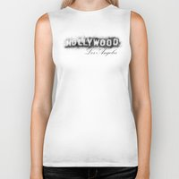 hollywood Biker Tanks featuring Hollywood by KitschyPopShop