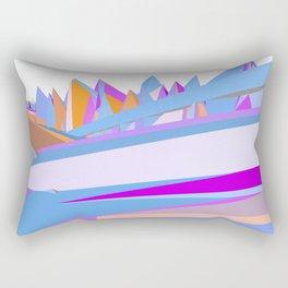Pastel pink blue orange hand painted geometrical abstract pattern Rectangular Pillow