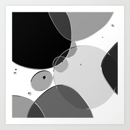 Circle Series - Chrome Art Print