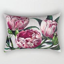 Peonies in a vase marers art Rectangular Pillow