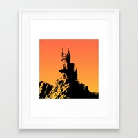 castle in the sky Framed Art Prints featuring Castle by Julia Badeeva