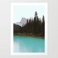 Peaceful Landscape At Yoho National park II Art Print