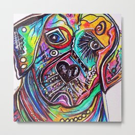 Lovable Lab Metal Print