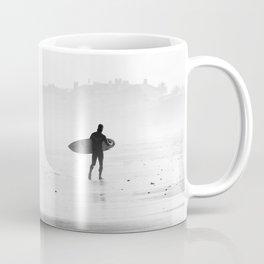 Beach Surf BW Coffee Mug