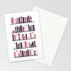 Shelves of Books Stylized Stationery Cards