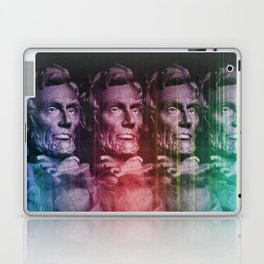 Abraham Lincoln colored Laptop & iPad Skin