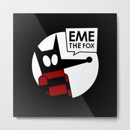 Eme - Black Metal Print