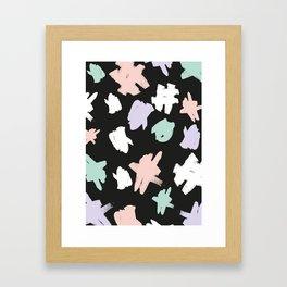 BRUSH MARKS Framed Art Print