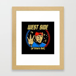 West Side - Spock Framed Art Print