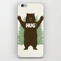 bear iPhone & iPod Skins featuring Bear Hug? by Fanboy30