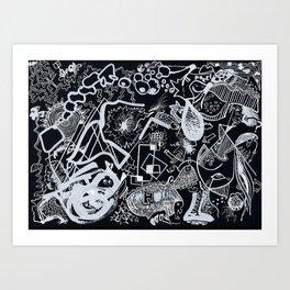 In Black Art Print