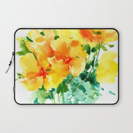 California Poppies, floral home decor Laptop Sleeve
