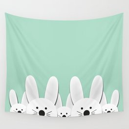Spying Bunnies Wall Tapestry