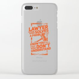 Lawyer Design: Lawyer Definition Clear iPhone Case