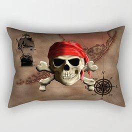 The Jolly Roger Pirate Map Rectangular Pillow