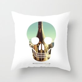 """""""Too much of anything is bad, but too much Champagne is just right"""" Throw Pillow"""