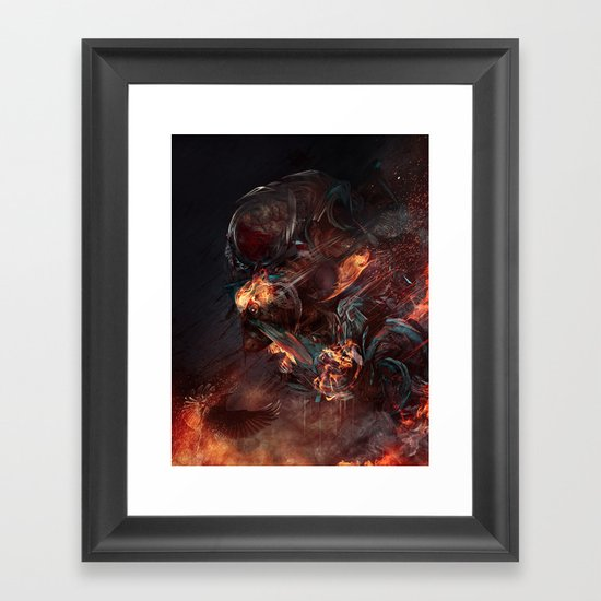 Thoughts of A Dying Atheist Framed Art Print