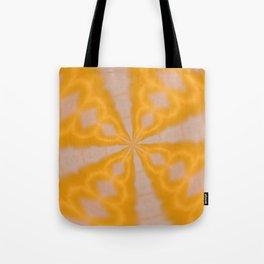 Tangerine Retro Kaleidoscope Tote Bag