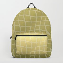 Gold Ripple Grid Pattern Backpack