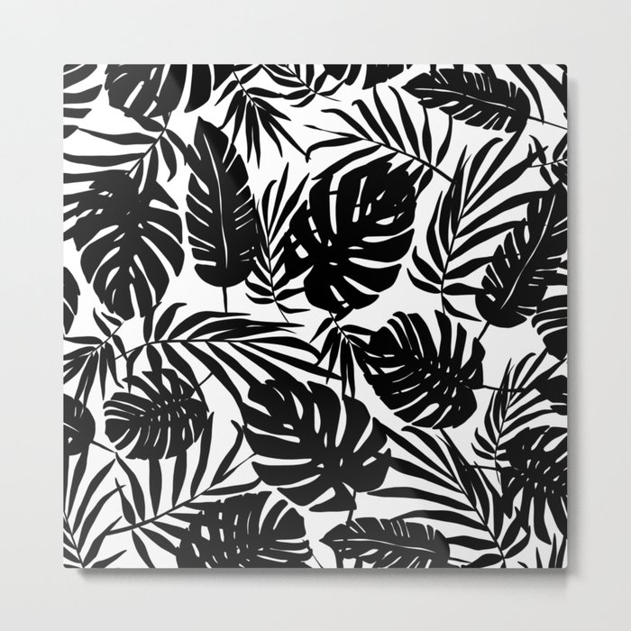 Urban Jungle White Metal Print