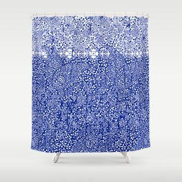 sarasa paisley all over in blues Shower Curtain