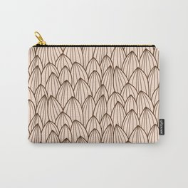 Cactus grid light brown Carry-All Pouch