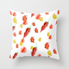 moving chilies Throw Pillow