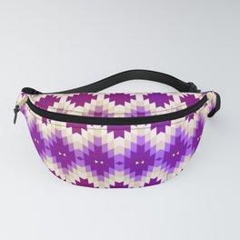 Purple Vintage Geometric Burst Fanny Pack