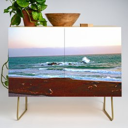 """""""Moonstone Beach #1"""" with poem: Our Beach Credenza"""