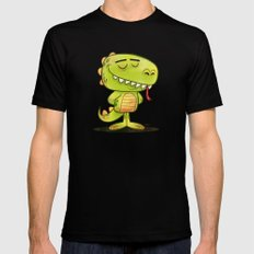 Anmals N' Stuff Series - 2 - Lizard Mens Fitted Tee MEDIUM Black