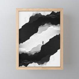 White Isolation Framed Mini Art Print