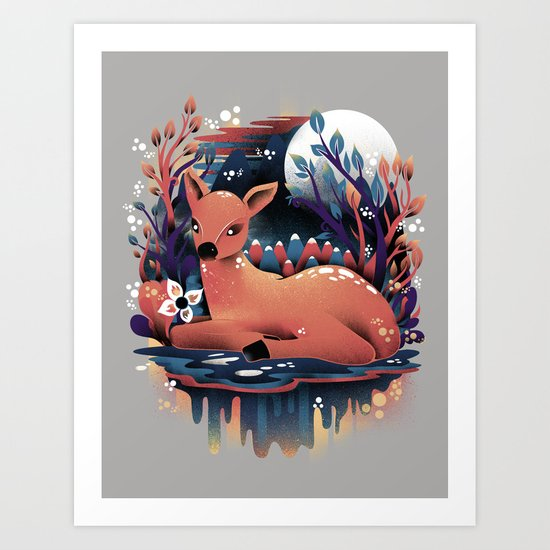 The Red Deer Art Print