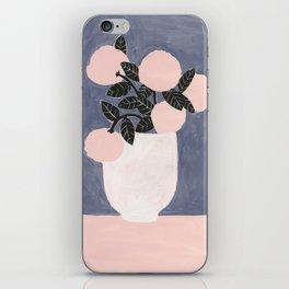 Posy Blue iPhone Skin