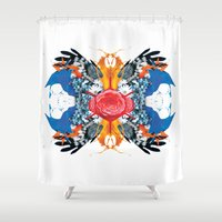 kaleidoscope Shower Curtains featuring kaleidoscope by Raphaël