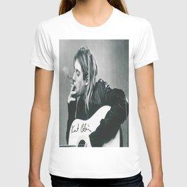 KurtCobain smoking Kraft Paper Poster Home Decoration Painting Room Wall Sticker, Kurt#Cobain T-shirt