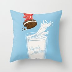 Sweets Surfing Throw Pillow