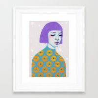 woman Framed Art Prints featuring The Observer by Natalie Foss