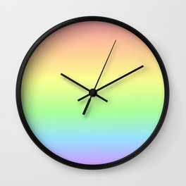 Pastel Rainbow Gradient Wall Clock