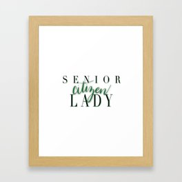 Senior Citizen Lady Framed Art Print