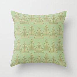 Winter Hoidays Pattern #10 Throw Pillow