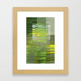 Green Lines Framed Art Print