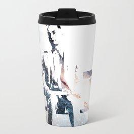 FORREST ON A BENCH & COSMOS Travel Mug
