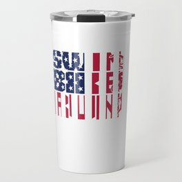 Swim Run Bike Swimmer Cyclist Runner Triathlete Triathlon Travel Mug