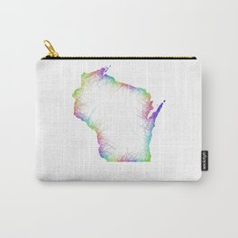 Rainbow Wisconsin map Carry-All Pouch