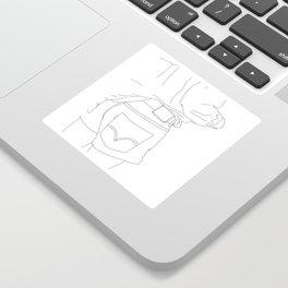 Fashion illustration line drawing - Capta Sticker