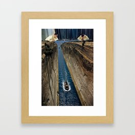 Watching it Drift Away Framed Art Print