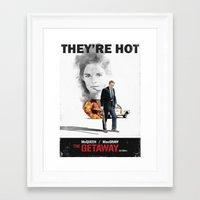 steve mcqueen Framed Art Prints featuring The Getaway, 1972, Steve McQueen, Ali MacGraw by mcclane83