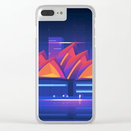 Synthwave Neon City #22: Sidney Clear iPhone Case