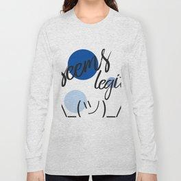 Seems Legit - Dots Shrug Emoji Long Sleeve T-shirt